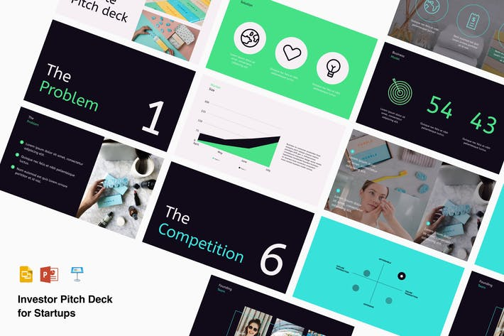 Thumbnail for Startup pitch deck presentation