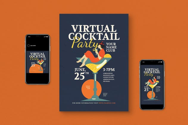 Virtual Cocktail Flyer Pack