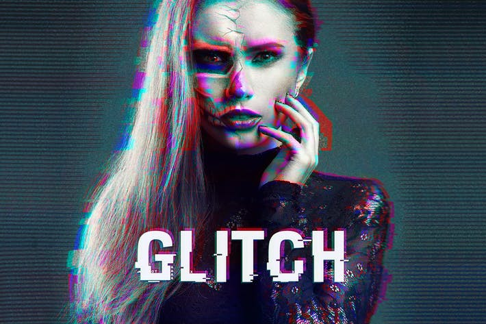 Thumbnail for Glitch Photoshop действие