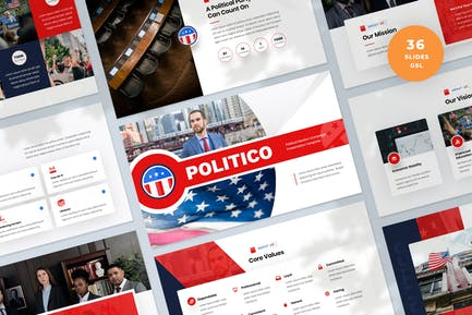 Political Election Campaign Slides Template