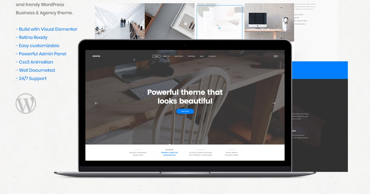 Download Arena - Business & Agency WordPress Theme by Nunforest