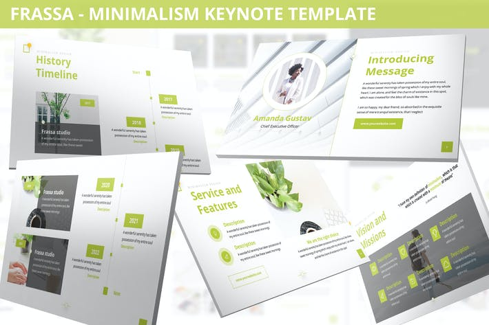Thumbnail for Frassa - Minimalism Keynote Template