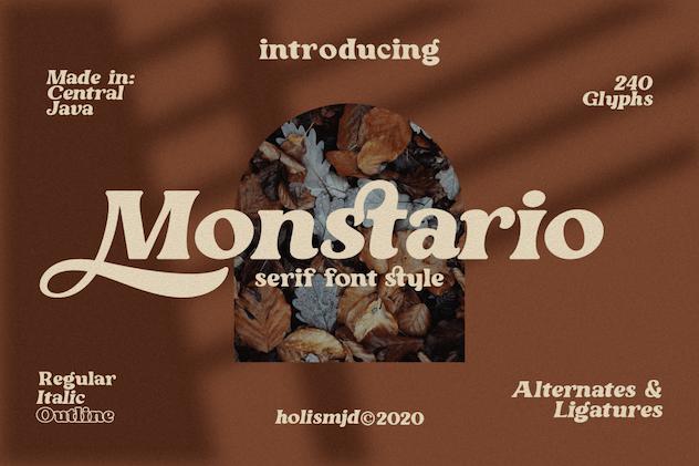 Monstario Serif