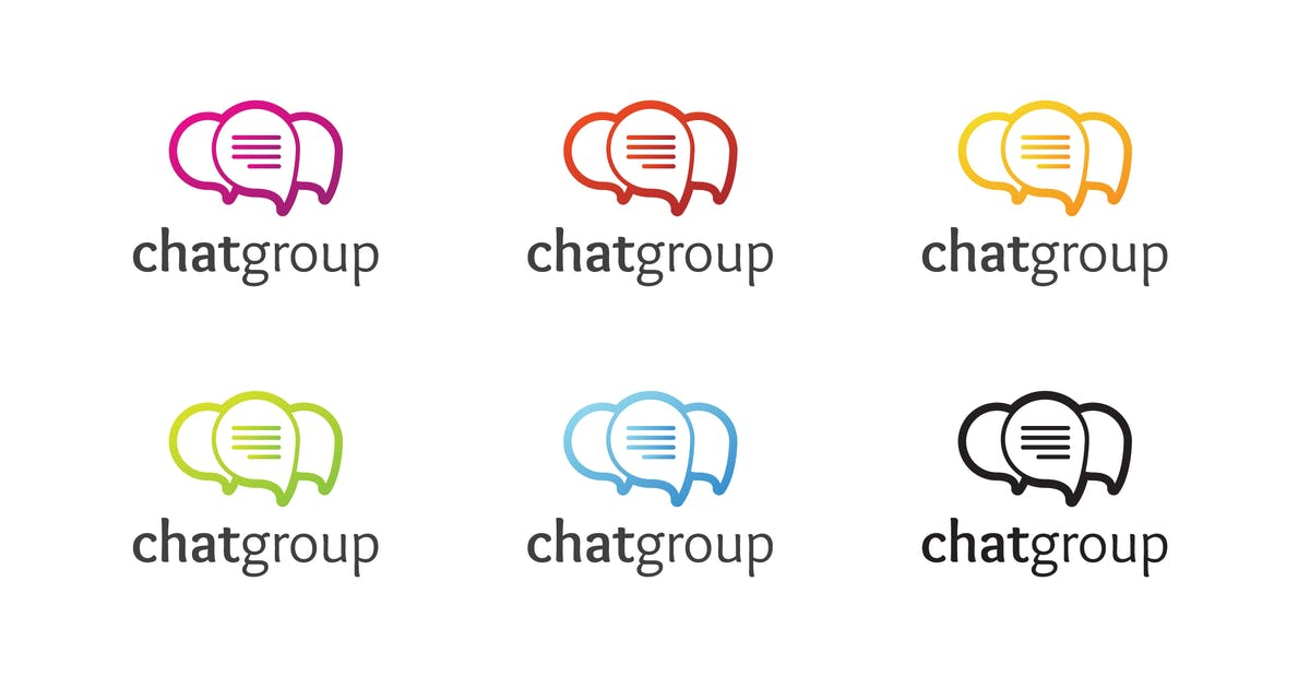 Download Chat Group Logo Template by Be_Themes