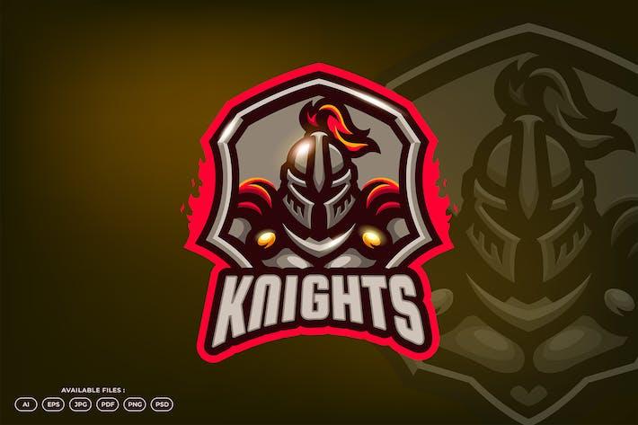 Knight Shield Army Kingdom Mascot Logo Template