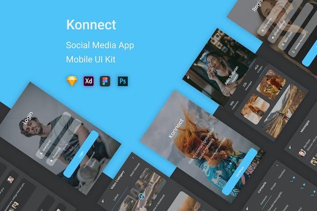Konnect - Social Media Mobile App UI Kit