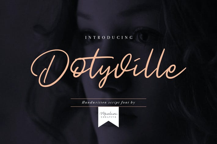 Thumbnail for Dotyville Script Font