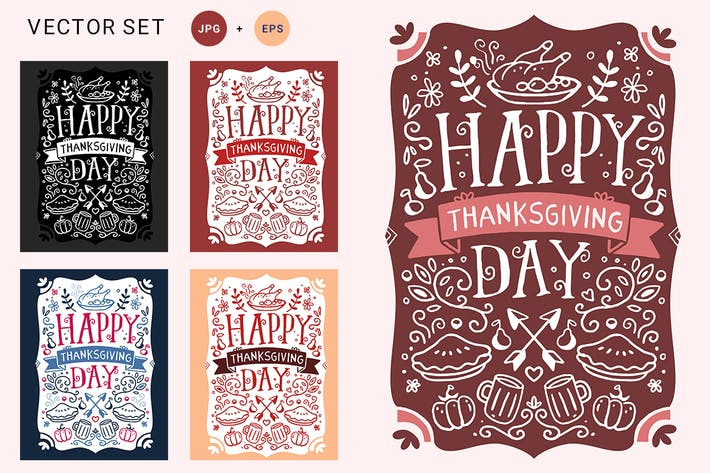 Thumbnail for Thanksgiving Day illustrations