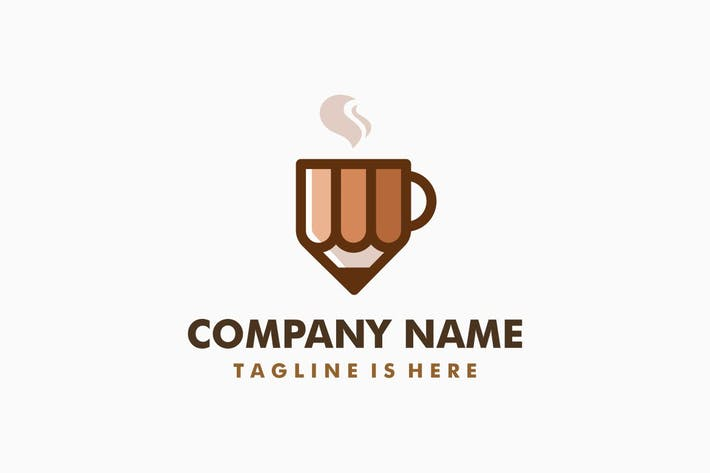 Thumbnail for Coffee Pencil Logo Template