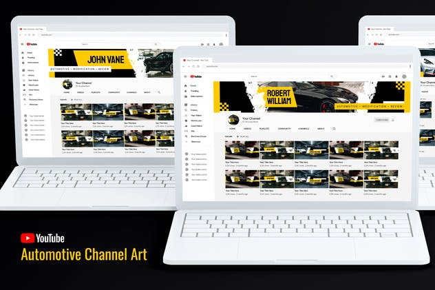 Automotive Youtube Channel Art