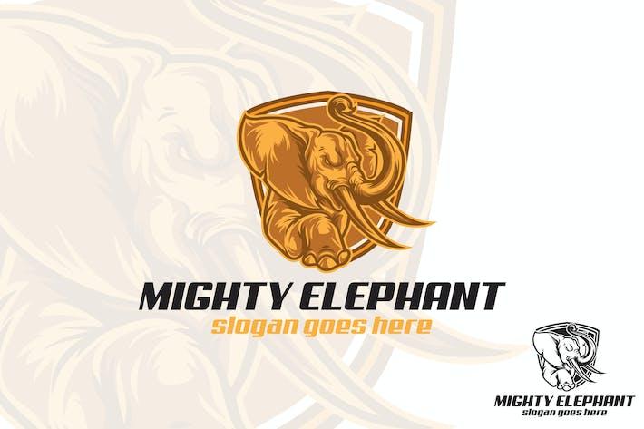 Thumbnail for Mighty Elephant Logo Mascot
