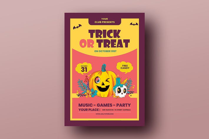 Thumbnail for Trick Or Treat Halloween Candy Festival Flyer