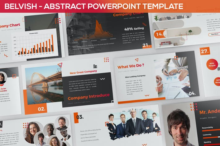 Thumbnail for Belvish - Abstract & Modern Powerpoint Template