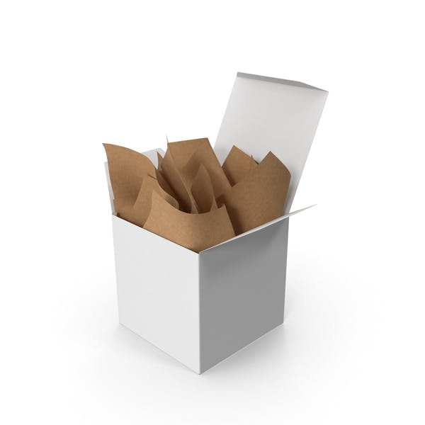 Квадратная упаковка с крафтовой бумагой