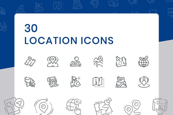 Thumbnail for 30 Location Icons