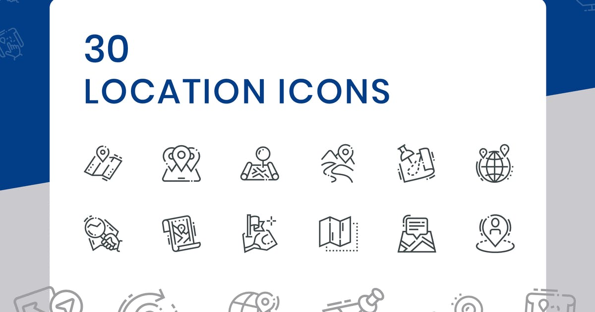 Download 30 Location Icons by iconsoul