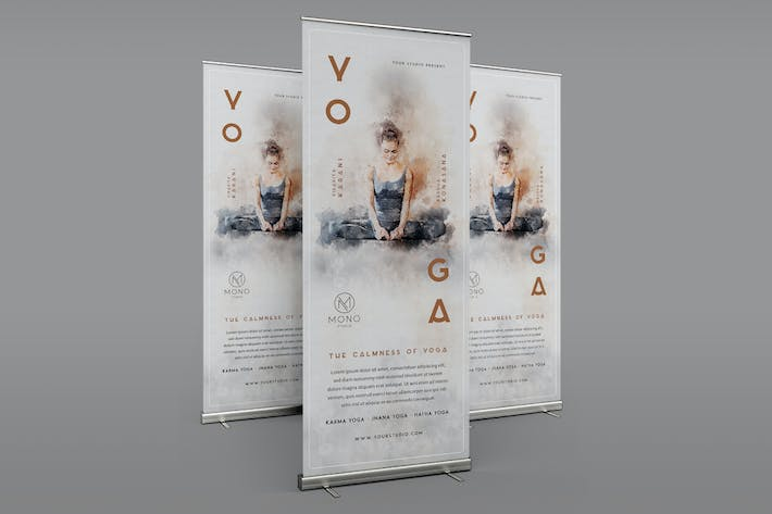 Thumbnail for Yoga Roll-Up Banner