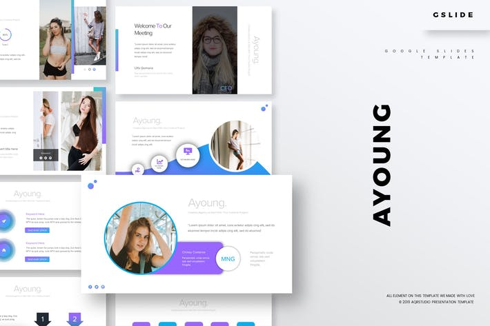 Thumbnail for Ayoung - GoogleSlides Template