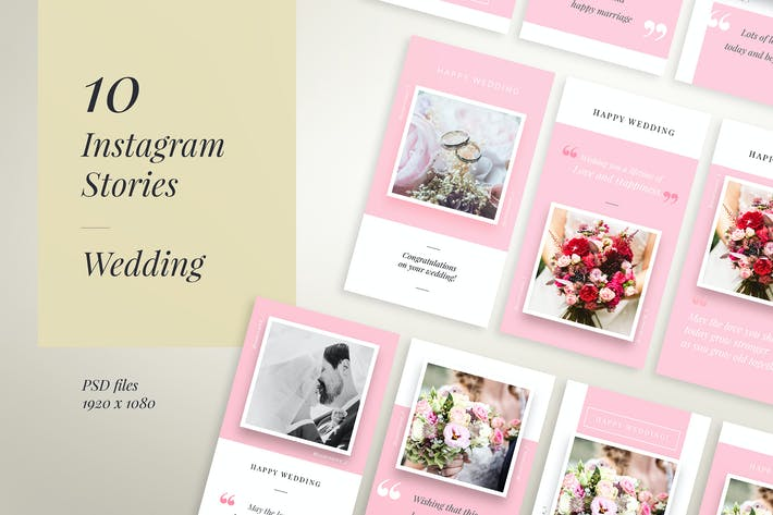 Thumbnail for IG Story Wedding Wishes - 10 Templates
