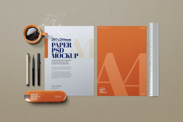 Thumbnail for Stationery A4 Design Project Draw Mockup