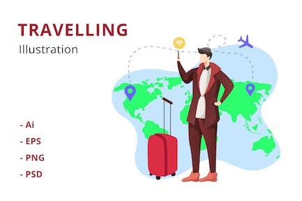 Travelling Illustration