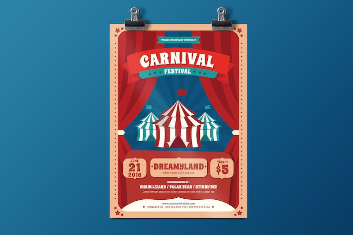 Thumbnail for Carnival Fest Flyer