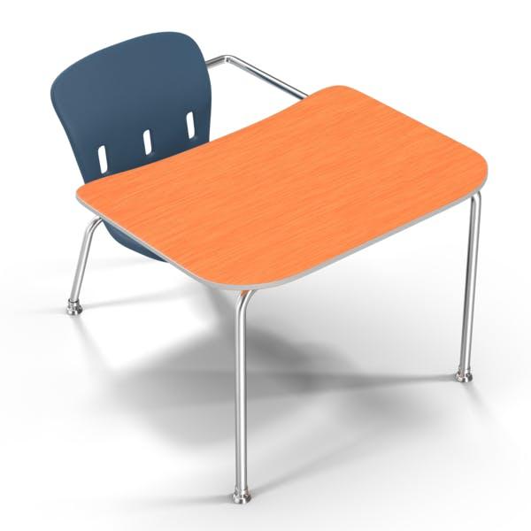 Школьный стол синий стул