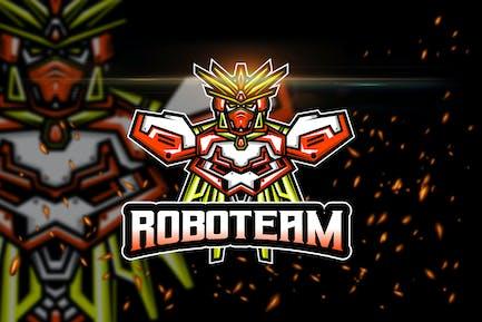 Robot Team - Esport & Mascot Logo Template