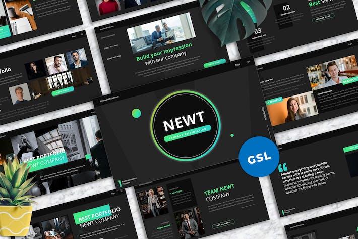Thumbnail for Newt - Company Profile Googleslide Templates