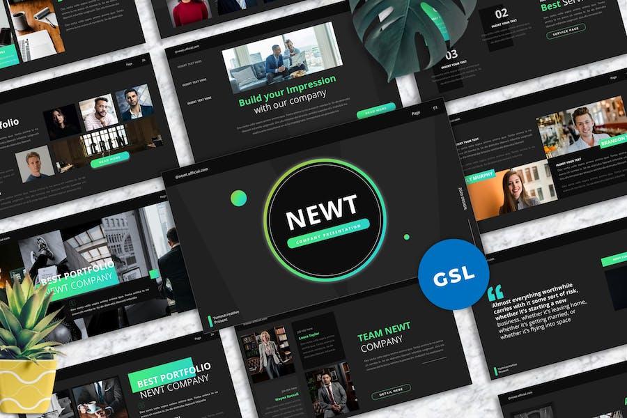 Newt - Company Profile Googleslide Templates