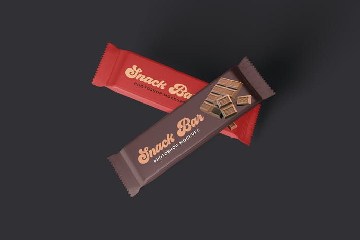 Thumbnail for Snack Bar Packaging Mockups