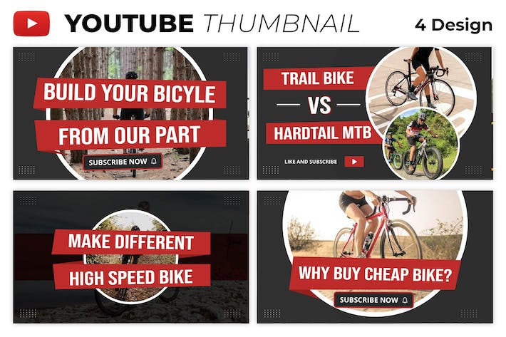 Bicycle Youtube Thumbnail Template
