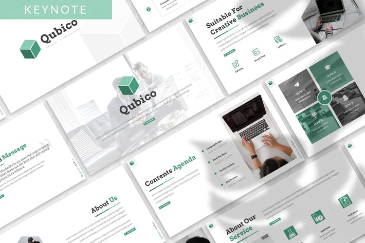 Thumbnail for Qubico - Business Keynote Template