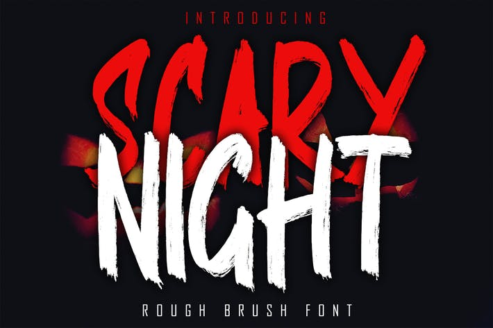 Thumbnail for SCARY NIGHT - Rough Brush Font
