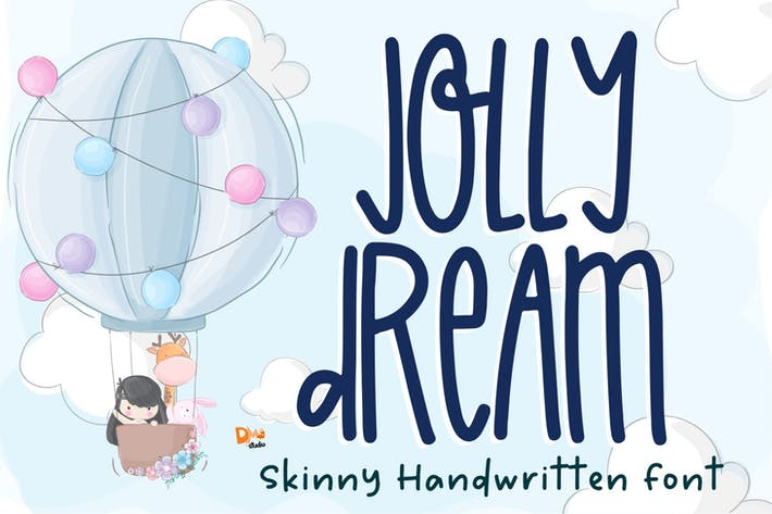 Jolly Dream - Skinny Handwritten