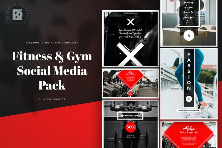 Thumbnail for Fitness & Gym Social Media Banners Pack