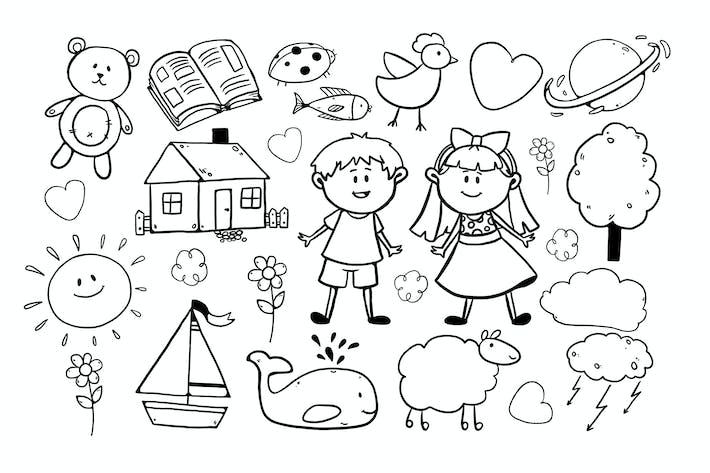 Thumbnail for Детские рисунки/3 разных листа