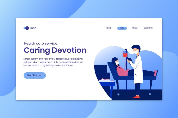 Caring Devotion Landing Page Template