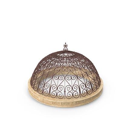 Techo de cúpula de metal antiguo