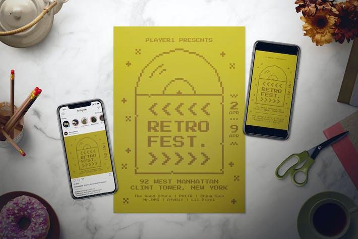 Thumbnail for Retro Festival Flyer Set
