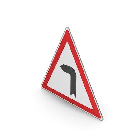 Verkehrszeichen-Kurve nach links