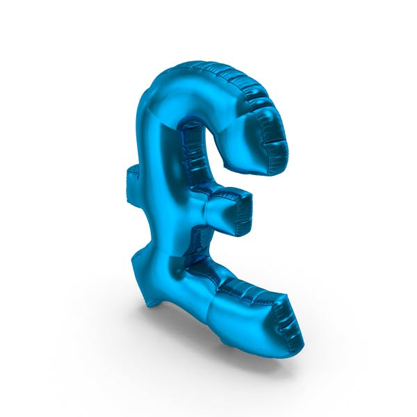 Thumbnail for Foil Balloon Pound Blue