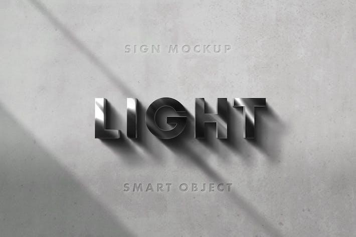 Thumbnail for 3D Sign Mockup Scene