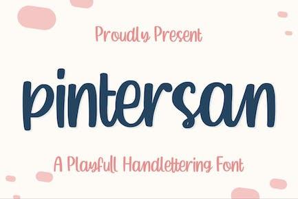 Pintersan a Crafter Font