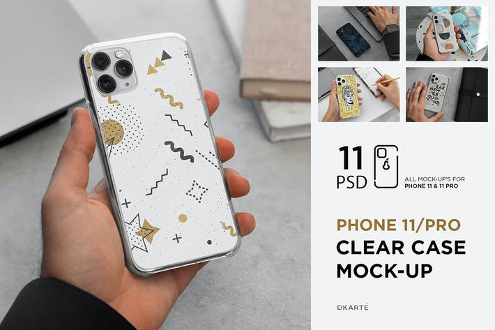 Thumbnail for Phone 11/Pro Clear Case Mock-Up