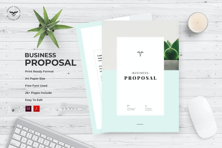Thumbnail for Minimal Business Proposal Template