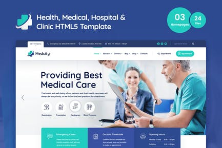 Medcity - Health & Medical HTML5 Template