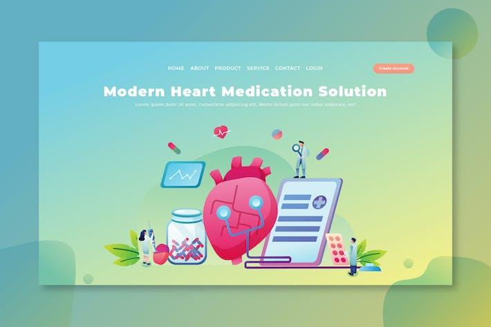 Thumbnail for Moderne Herzmedikation - PSD und AI Landing Page