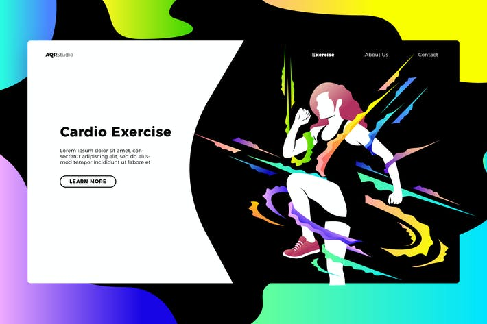 Thumbnail for Cardio - Banner & Landing Page