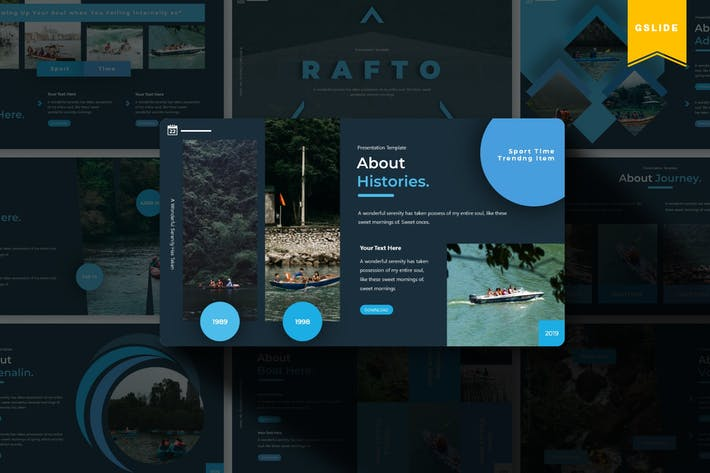Thumbnail for Rafto | Google Slides Template